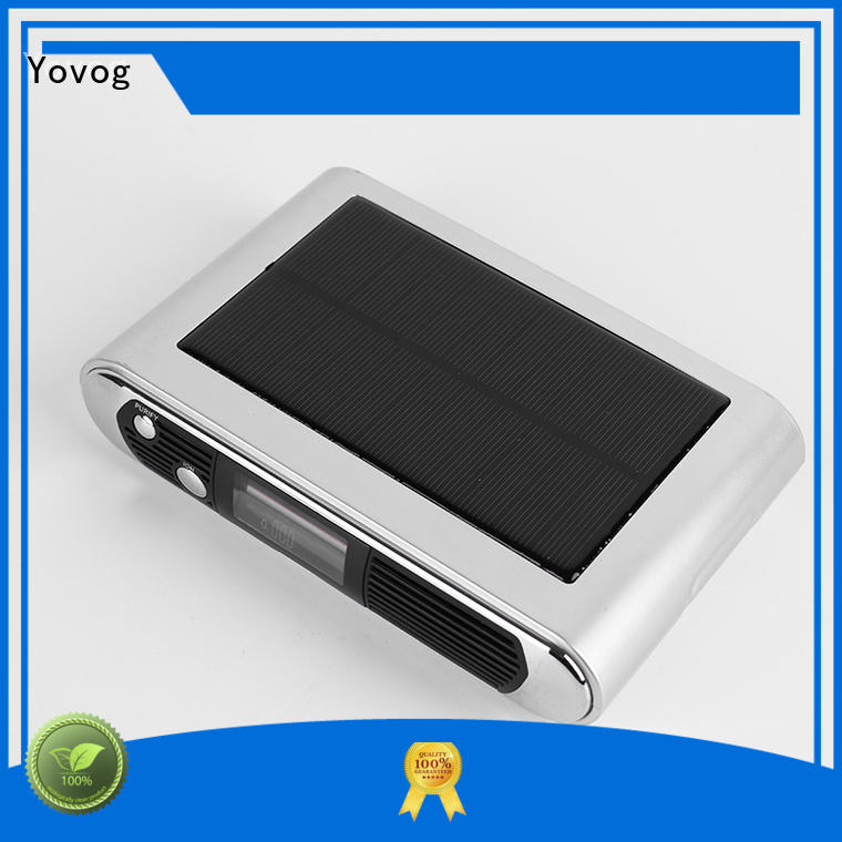 Weak Light Induction Charging Solar Car Air Purifier With LCD Screen Display EDS-1070