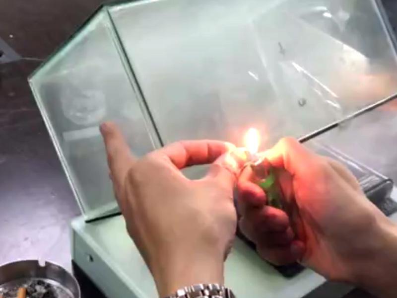 Smoke Elimination Test of EDS-1070 Vehicle Purifier