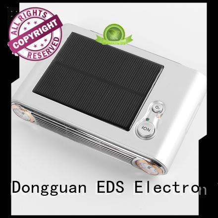 Solar powered vehicle air freshener for dust removal EDS-7007