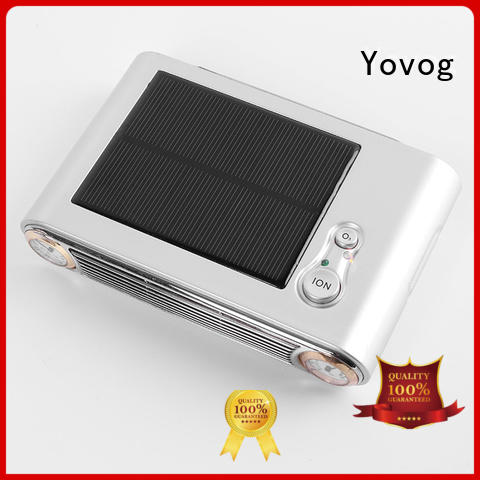 Yovog solar powered car air purifier at discount