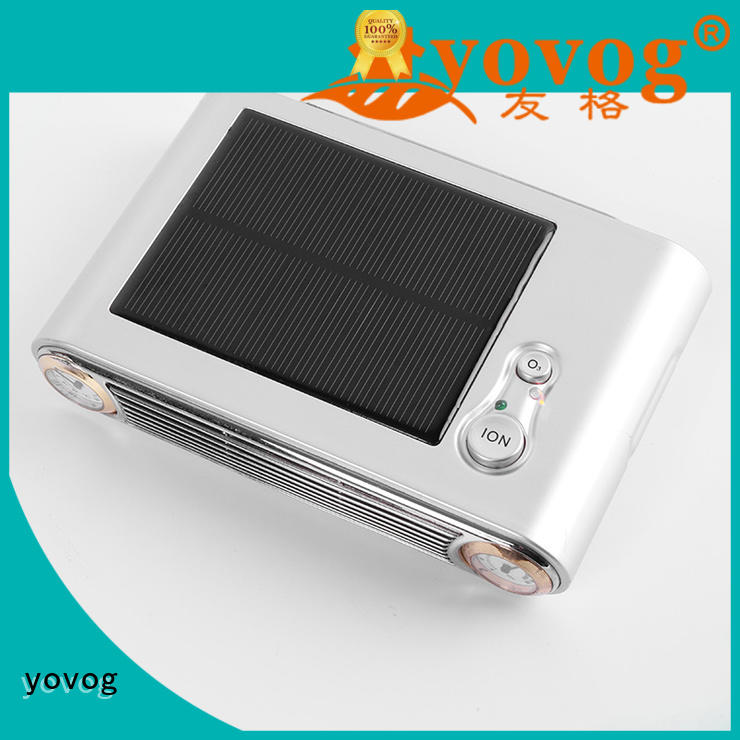 Wholesale removal lcd solar car air purifier yovog Brand