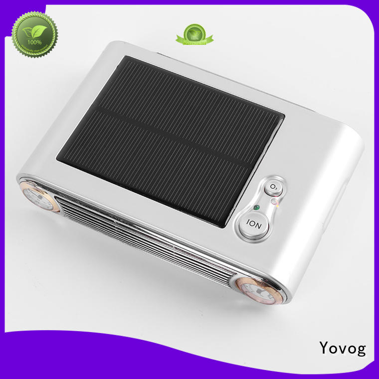 Yovog New ionic car air purifier reviews company for bus