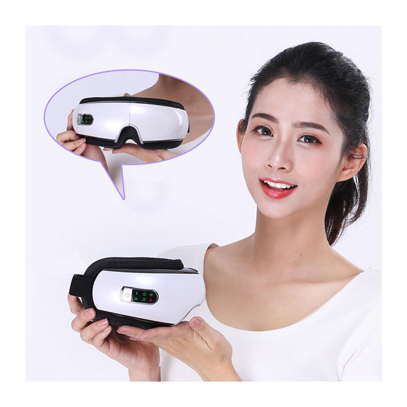 Bluetooth Music Air Pressure Care Foldable Rechargeable Wireless Vibrating Eye Massager With Heat EDS-205