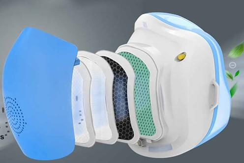 Electric face mask filter air purifier mask n95 electric mask n95 reusable electric electric purification mask